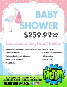 Baby Showers at the Factory